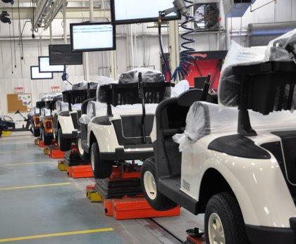 Inside the E-Z-GO manufacturing facility