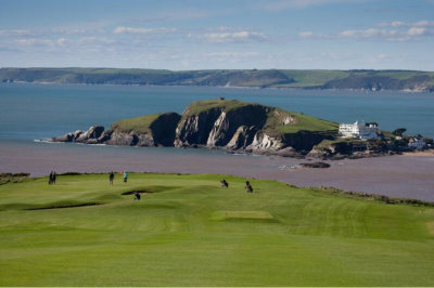 Burgh Island from Thurleston Golf Course