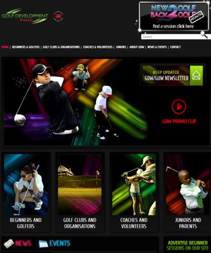 Golf Development Wales website