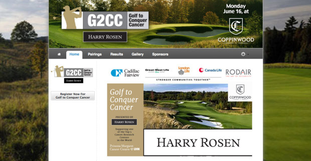 Golf Genius Tournament Website Example