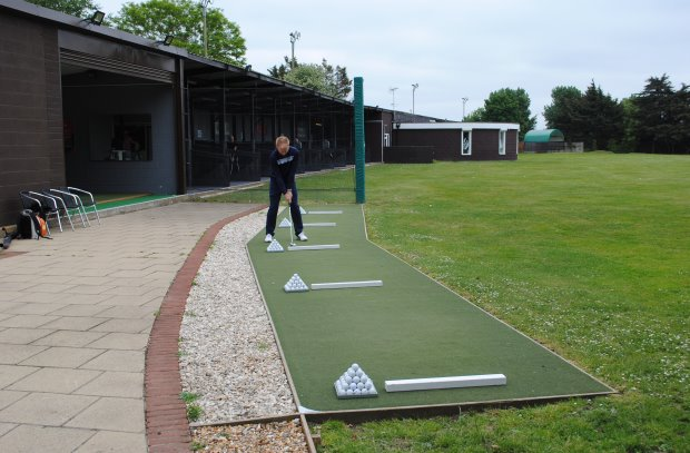 Huxley Golf driving coaching zone at Portsmouth