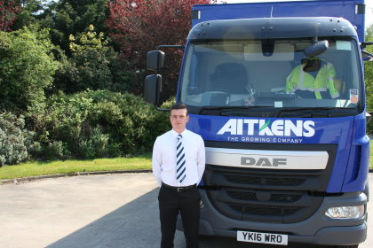 James Daley, new Technical Sales Represntative for Aitkens Sportsturf