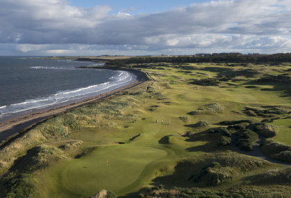 Kingsbarns Aerial 17th Green and Course