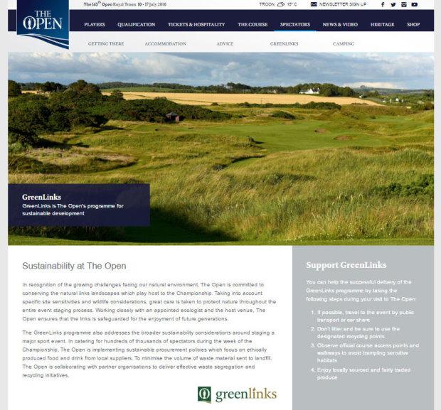 OpenGreenLinks website