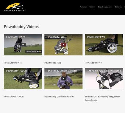 PowaKaddy Video Index webpage