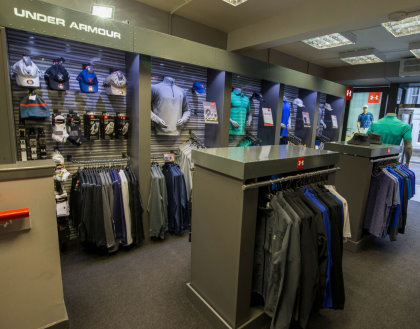 Under Armour shop within Auchterlonies of St Andrews