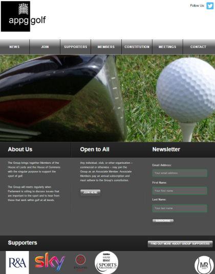 appg golf website