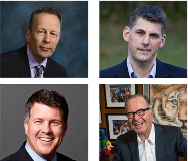 Top row: L- Kevin Fish, Scottish Golf. R- John Bull, Tall Tree Bottom row: L- Rob Hill, Global Golf Advisors. R- Gregg Patterson, Tribal Magic