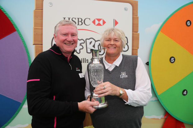 Golf Foundation Chairman Stephen Lewis and Dame Laura Davies.j