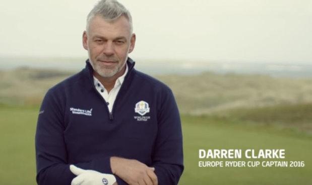 Darren Clarke Standard Life video screen shot