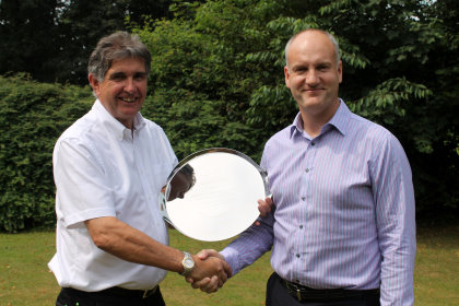 Prior to the luncheon Jim Croxton, BIGGA's CEO presented David with an engraved Silver Salver
