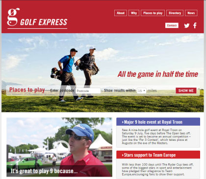 Golf Express website