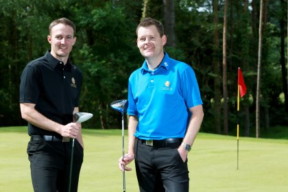 Hamptworth Golf and Country Club's professional Michael Mulligan (right) and his assistant Mark Dawe.