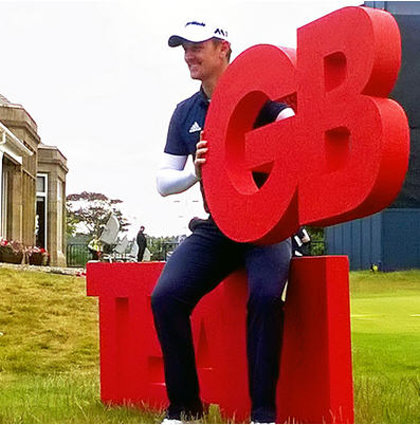 Justin Rose is pictured at this morning's Team GB announcement