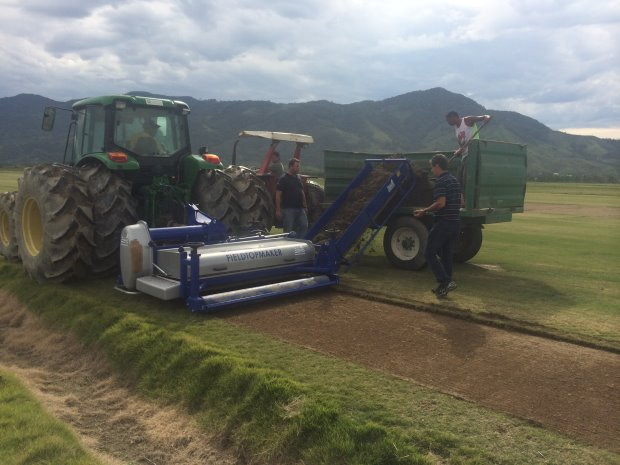 Koro FTM with Universe Rotor being used to harvest sprigs in Brazil for Rio
