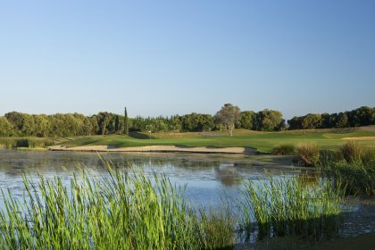 The 11th hole of the Oceânico Victoria Course, host to The European Tour's Portugal Masters