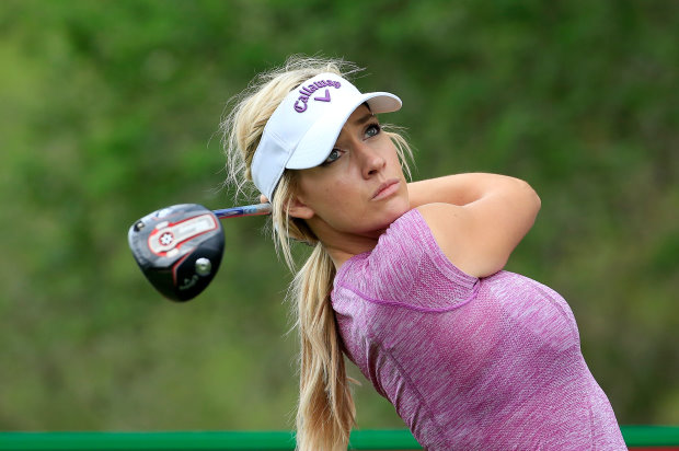 Paige Spiranac of the United States (Photo by David Cannon/Getty Images) *** Local Caption *** Paige Spiranac