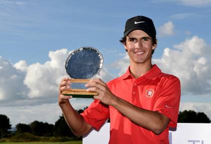 Pedro Lencart Silva of Portugal wins the Junior Open (The R&A)