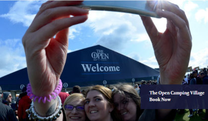 The Open Camping Village website