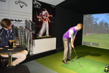 The new Indoor Golf Studio at Hever Castle Golf Club
