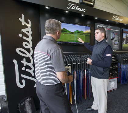 Titleist master fitter, Graeme Noblett, who will be offering a bespoke fitting service at the Titleist National Fitting Centre, Gleneagles
