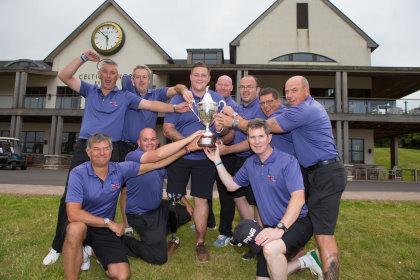 The winning team from Battle Back Golf