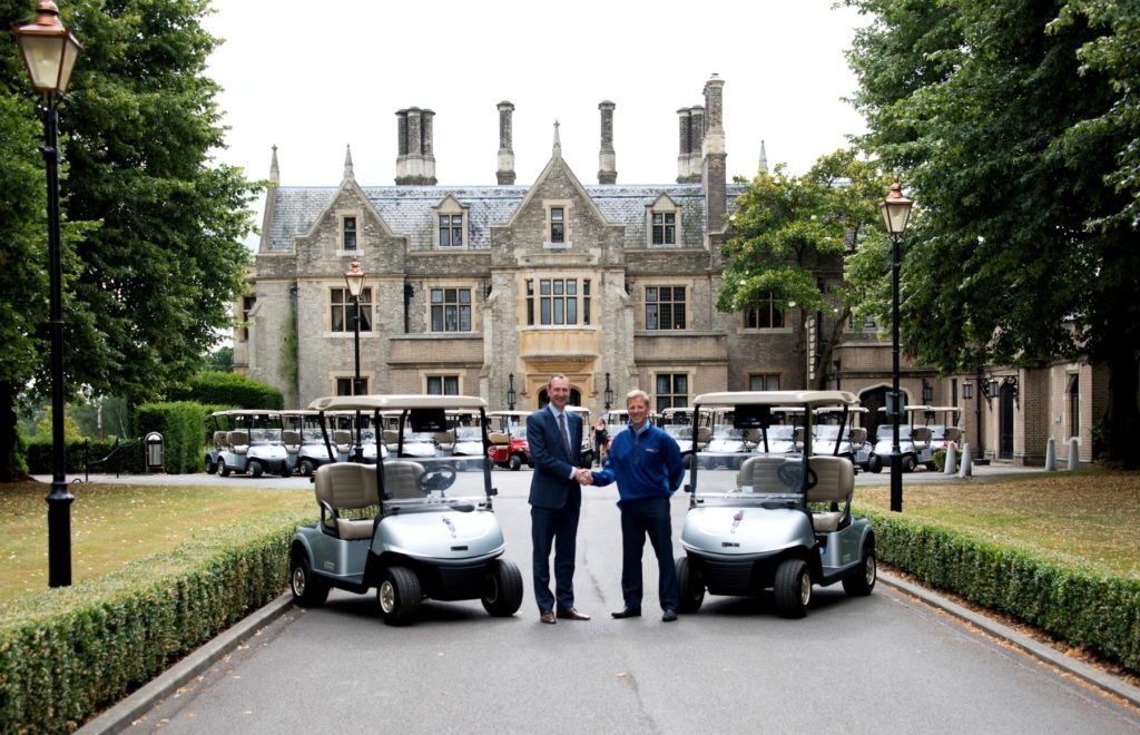 Marc Hayton, Managing Director at The Foxhills Collection, with Andy Turbin, General Sales Manager at Ernest Doe & Sons Ltd