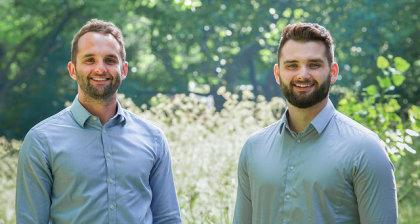 Tim (left) and Angus Lloyd-Skinner