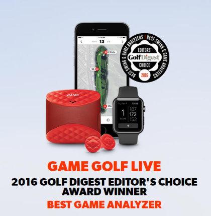 GameGolfLive award from Golf Digest