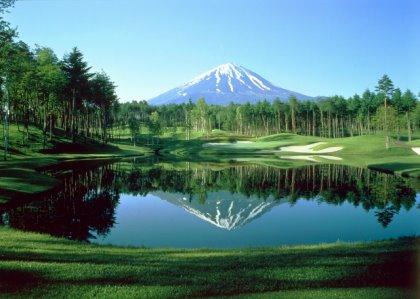 Narusawa Golf Club and Mount Fuji