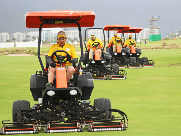 Jacobsen mowers preparing the Reserva Marapendi Golf Course in Rio de Janeiro