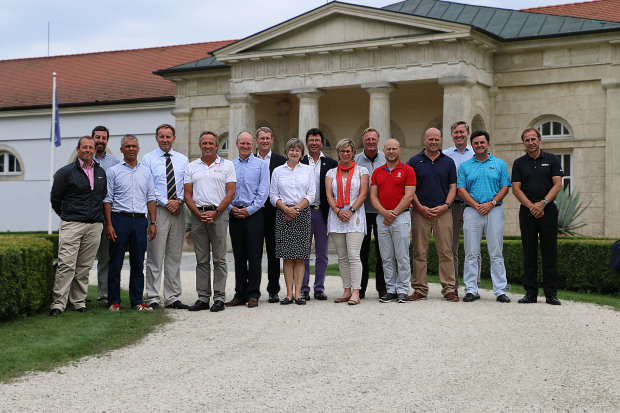Attendees of the 'Working for Golf' Golf Developer Meeting at Pannónia Golf & Country Club, Hungary