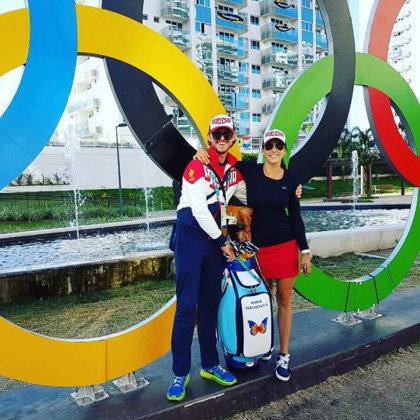 James Tobia with Maria Verchenova in Rio