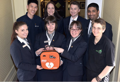 Defibrillators have been installed at all 45 MacdonaldHotels & Resorts in the UK
