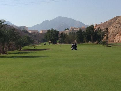 4th Hole Ghala Golf Club, The Sultanate of Oman, before the redesign