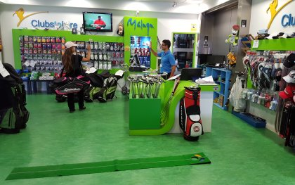 Clubs To Hire outlet, Malaga