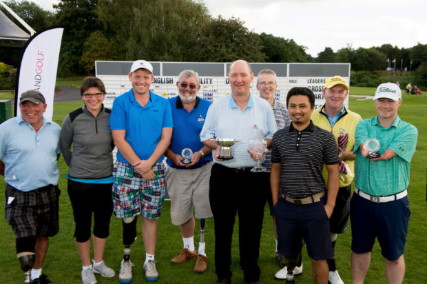 Prizewinners at the first English Disability Open (© Leaderboard Photography)