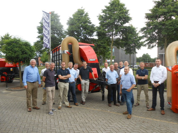 Ernest Doe's Andy Turbin and his groundcare team at Trilo's HQ in Holland