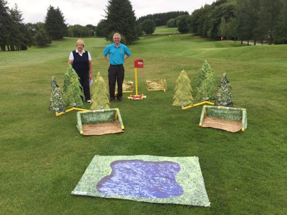 Factory Eleven Golfparc equipment on show at Muckhart Golf Club