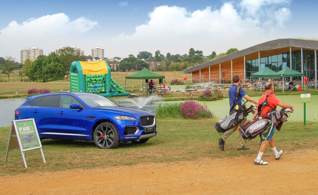 A weekend in a sporty Jaguar was on offer at Richmond Park GC's summer Festival of Golf