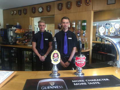 North Hants Golf Club have also taken advantage of a professional new 'Serious' look for their Food & Beverage team