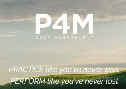 P4M Golf Management website
