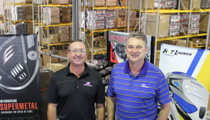 David Glod (left) president and founder of Tour Edge Golf with John Craig, executive vice president