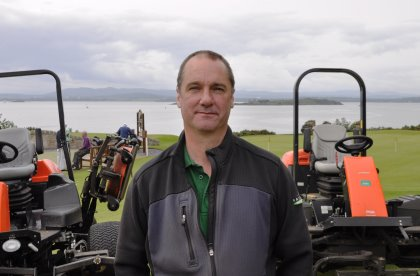 Mark Laing started as an apprentice at Aberdour Golf Club in 1986, before becoming head greenkeeper in 1995