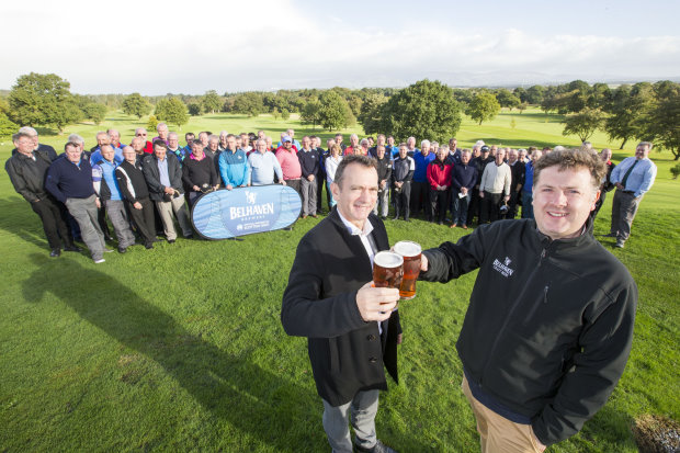 Gordon Muir and Blane Dodds (left) toast the new deal at Glenbervie