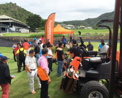 46 attendees from 24 golf courses around Thailand took part in Jacobsen and Shriro Thailand's demo day at Black Mountain Country Club