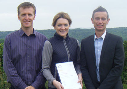 Matthew Orwin (left), Jess Eyton (centre) and David Reeves (right)