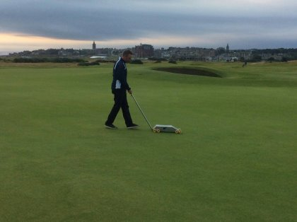 STRI's Adam Newton at The Old Course, St Andrews
