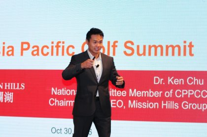 Dr. Ken Chu, chairman and chief executive Mission Hills Group,