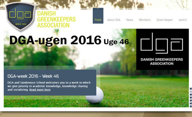danish-greenkeepers-association-webpage